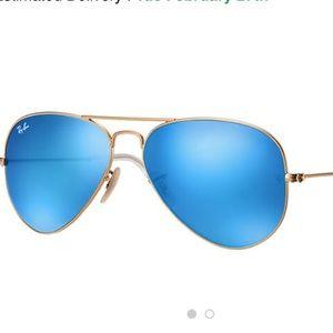 Rayban Aviator Flash Lenses Sunglasses